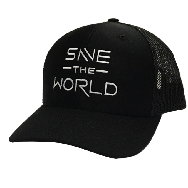 Save the World Black Ballcap