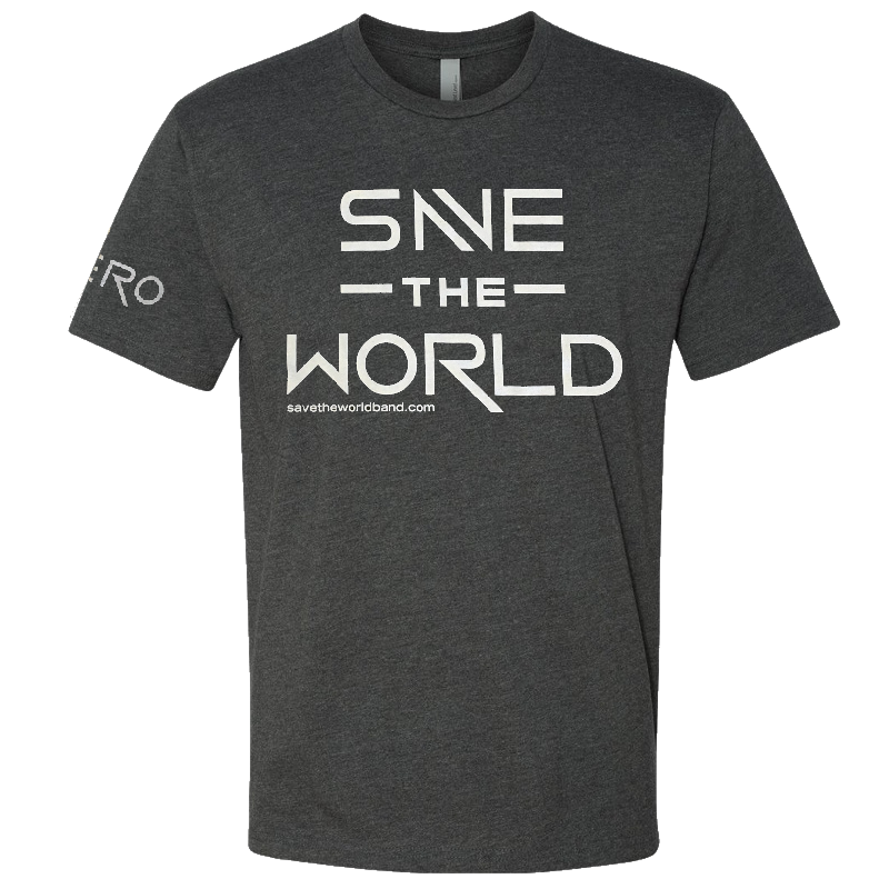 Save the World Heather Charcoal Tee