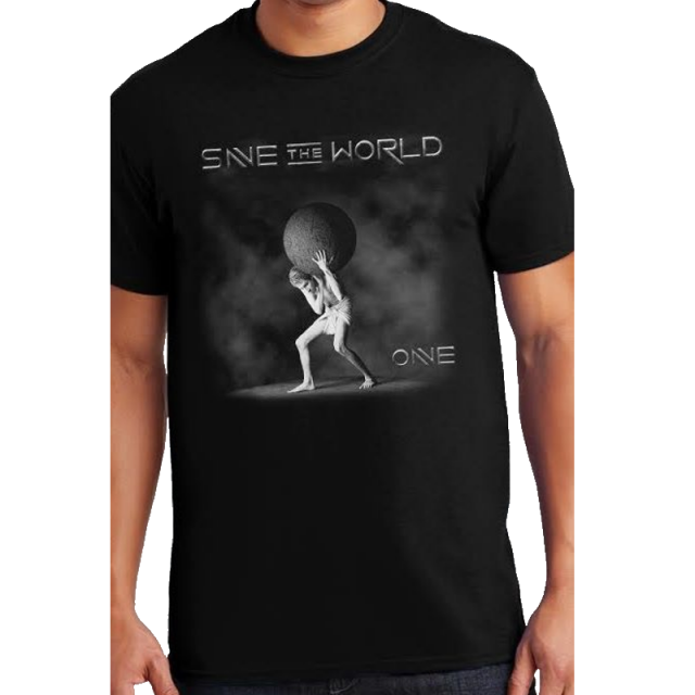 Save the World Black Tee- Album Cover